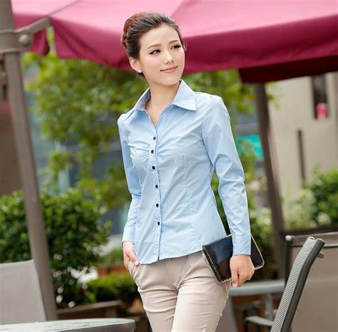 Kemeja Kerja Santai Wanita baju kemeja kerja wanita 2014 model terbaru jual murah import kerja