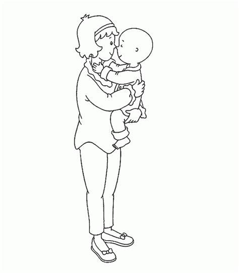 dibujos para colorear caillou caillou cartoon coloring pages