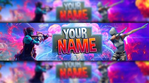 fortnite youtuber names 100 free fortnite channel banner template