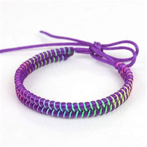how to knit a friendship bracelet rainbow waxed knitted bracelets cords braided hemp rope