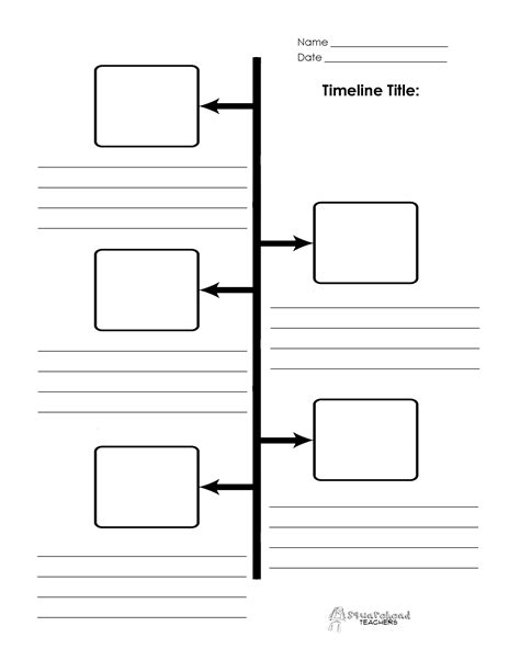 Timeline Boxes And Lines Timeline Generator Printable
