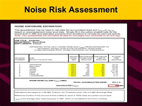 Osha Noise And Hearing Conservation Osha Hearing Conservation Program Template