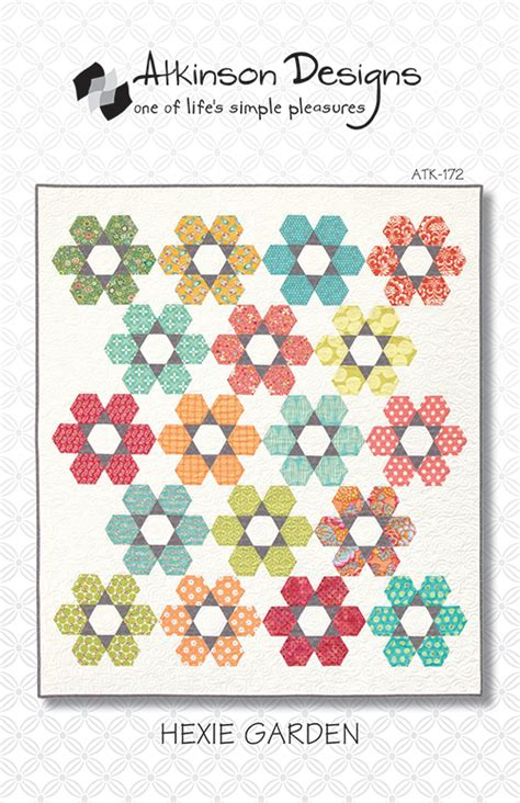 Hexie Garden Quilt Pattern by Hexie Garden Pattern Terry Atkinson Designs