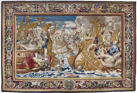 The Tapestry file tapestry showing the sea battle between the fleets of