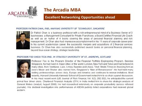 Arcadia Mba Singapore top ranked us mba from arcadia pennsylvania in
