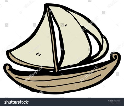 sail boat cartoon images sailboat cartoon stock photo 95967682 shutterstock