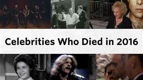 celebrity that died in 2016 final farewells celebrities who died in 2016 one news