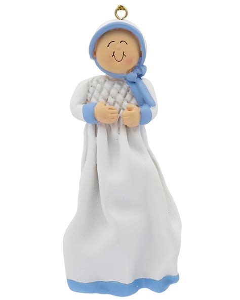 baptism or christening boy christmas ornament religious
