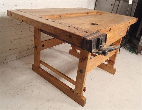 workshop bench for sale vintage work bench with vice for sale at 1stdibs