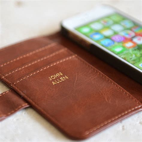 Casing Iphone 55s Luxury Leather luxury personalised iphone by klevercase notonthehighstreet