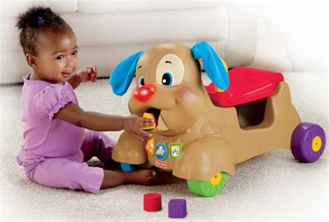 fisher price ride on puppy fisher price laugh and learn stride to ride puppy new ebay