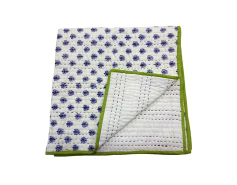 Size Of Baby Blanket For Crib Crib Size Cotton Quilt Blanket Buy 100 Cotton Baby Quilt Block Print Baby Quilts Kantha