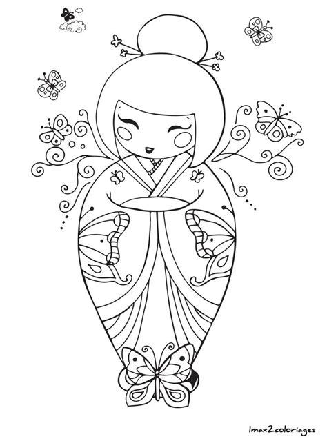 libro matriochka coloriage poupee japonaise numero 22 dessins poup 233 es et poup 233 es kokeshi