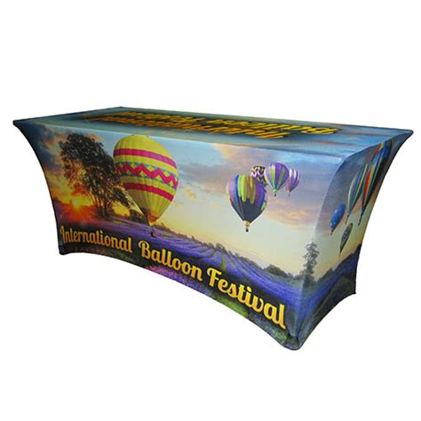 custom printed spandex table covers trade show tablecloth