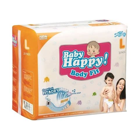 Popok Bayi Baby Happy L30 jual baby happy popok bayi size l 20 pcs harga kualitas terjamin blibli
