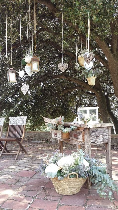 decoracion de arboles con cinta ideas para decorar una boda con cestas de mimbre trendy bodas the wedding magazine