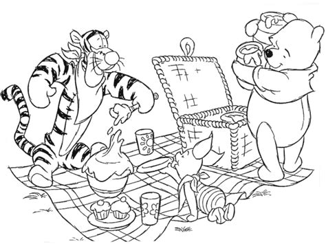free teddy bear picnic coloring pages