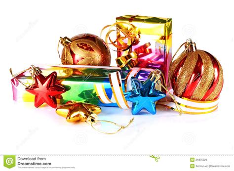 gifts with decorations for new year and christmas royalty