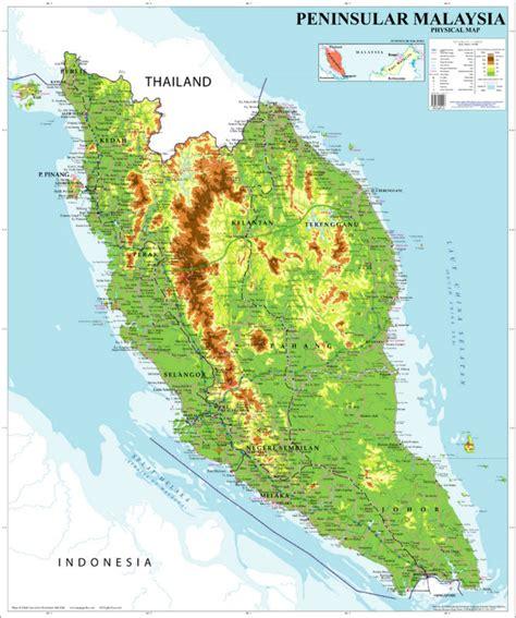 maps globe specialist distributor mapa f 237 sico de la pen 237 nsula de malasia mapa identificaci 243 n