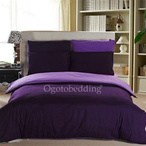 Modren Purple Solid Cotton Queen Size Bedroom Comforter