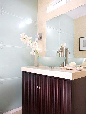 amazing bathroom wall paneling ideas to add pizzazz to the powder glass panels and glasses on pinterest