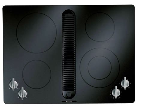 Downdraft Ventilation For Cooktops jenn air jed8430bdb 30 quot electric cooktop with