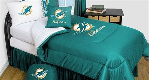 Miami Dolphins Bed Set Miami Dolphins Bedding Nfl Comforter And Sheet Set Combo Bedding By Sportskids Llc
