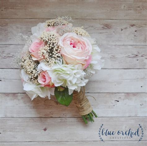 Wedding Bouquet Baby S Breath by Silk Wedding Bouquet Silk Flowers Silk Flower Bouquet