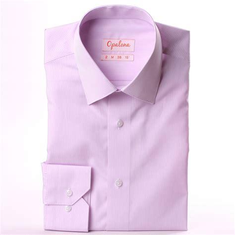 lustre blanc 3845 camisa con finas rayas blancas y moradas