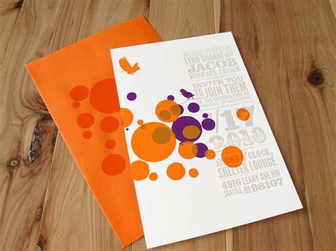 Orange Wedding Invitations by Circus Poster Inspired Wedding Invitations