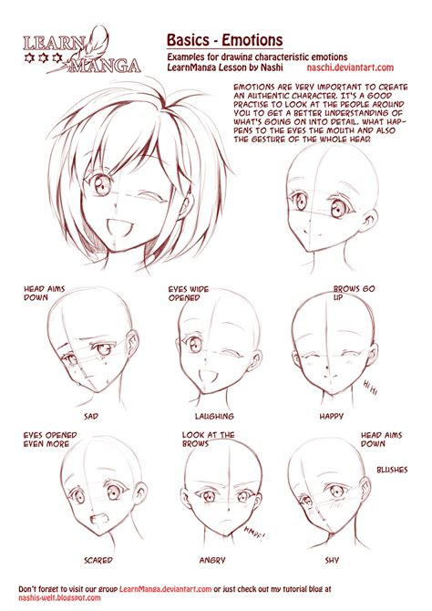 easy to draw anime faces emotions step by step guide how to draw 28 emotions on different faces drawing books books learn emotions by naschi on deviantart
