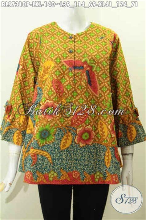 Baju Wanita Karir Berjilbab baju batik kerja wanita karir aneka busana batik model a simetris motif bagus printing lengan