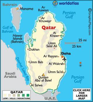 qatar in world map qatar map geography of qatar map of qatar worldatlas