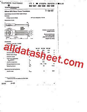 ztx650 transistor datasheet bd128 datasheet pdf list of unclassifed manufacturers