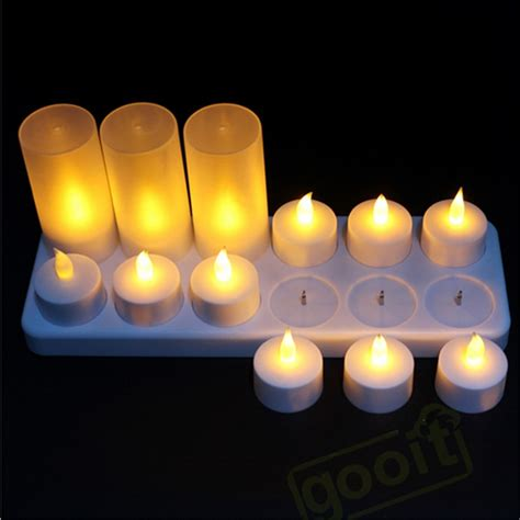 flicker lights battery operated yellow flicker led rechargeable tea lights candle