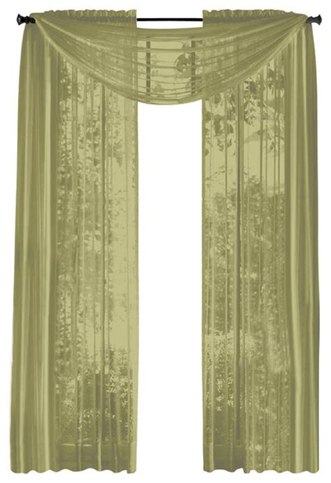 Hlc Me Pair Of Sheer Panels Window Treatment Curtains