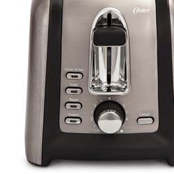 Black Stainless Steel Toaster Oster Black Stainless Collection 2 Slice Toaster