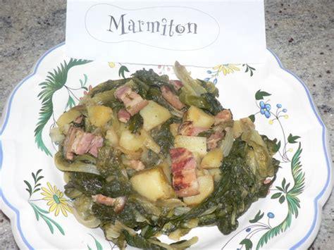 salade verte cuite recette cuisine salade cuite aux pommes de terre et lardons recette de