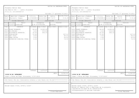 calcular la liquidacion 2016 de sueldos modelo recibo uocra