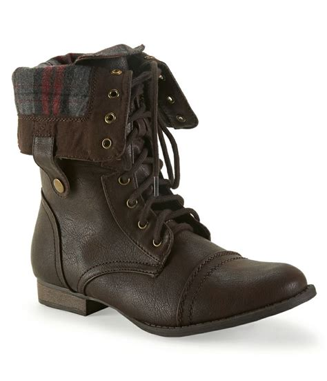 sweater lined foldover combat boots foldover combat boot from aeropostale where d you get