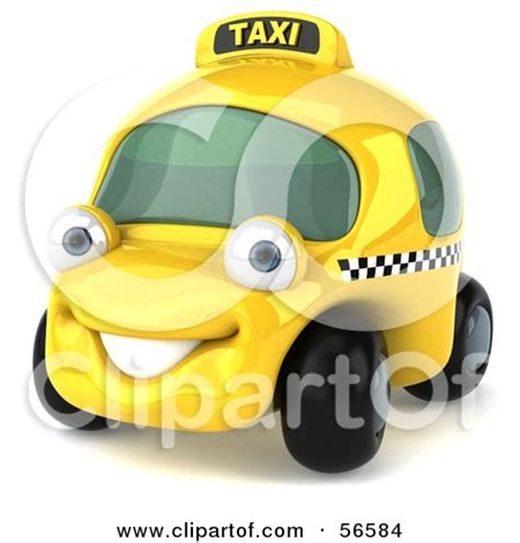 cars characters yellow royalty free rf clipart illustration of a 3d yellow taxi