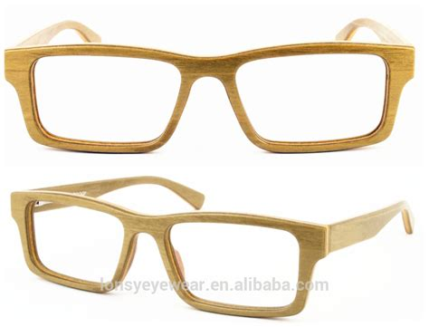 design style wood frame reading glasses wooden