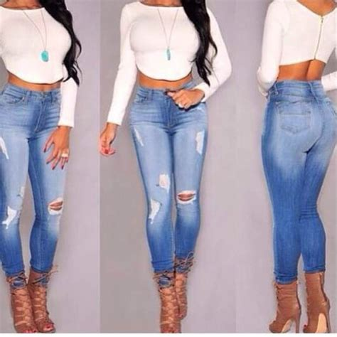 skinny jeans in or oyt in 2015 2015 high waist skinny tight long jeans pencil stretch