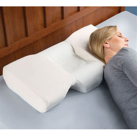 bed pillows for neck pain contour pillow made from viscofresh memory foam the pillow
