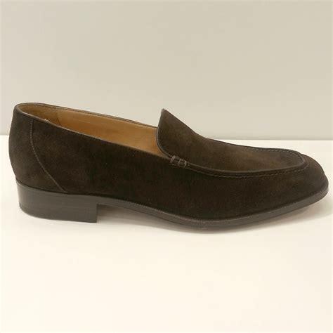 gravati suede venetian slip on shoes in brown