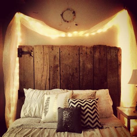 Headboard With Lights Reclaimed Wood Headboard And Lights Yes Ikea Decora
