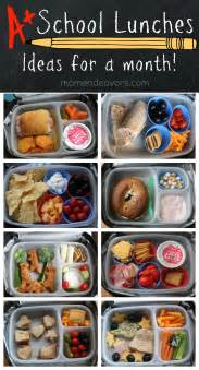 a month of kid approved school lunches easy creative