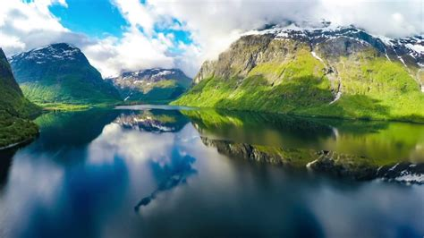 beautiful  amazing aerial footages  mountains lakes sleep  relax  screensaver