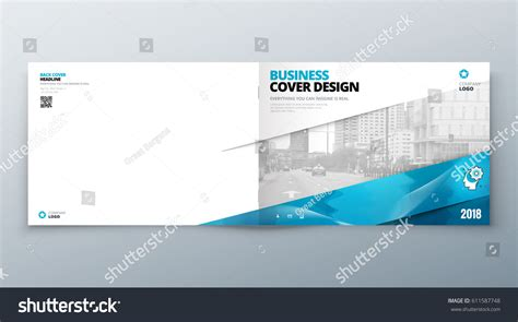landscape layout horizontal landscape brochure design corporate business template