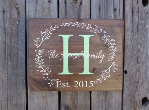 Handmade Name Signs - custom monogram sign wedding personalized name sign